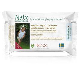 Eco by Naty ECO Vlhčené ubrousky pro citlivou pokožku bez vůně - cestovní balení 20ks