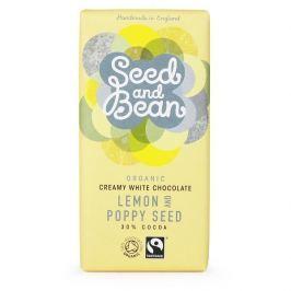 Seed & Bean BIO bílá mléčná čokoláda s mákem a citrusovým olejem