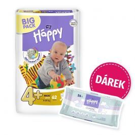 Bella Baby HAPPY plenky Maxi Plus 9-20kg (velikost 4) Big Pack 62ks