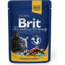 Brit Premium Cat with Chicken & Turkey kapsička