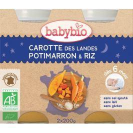 Babybio BIO Mrkev, dýně a rýže - večerní