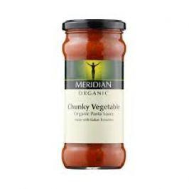 Meridian foods Chunky Vegetable Pasta Sauce - Bio tomatová omáčka s kousky zeleninyty a křupavou zeleninou