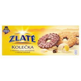 Opavia Zlaté Kolečka sušenky s máslovou chutí polomáčená s mléčné čokoládě