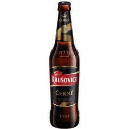 Krušovice Královské Černé pivo sklo