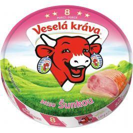 Veselá Kráva se šunkou z čerstvého mléka Tavené
