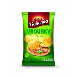 Bohemia Chips vroubkované s příchutí pizza Chipsy a brambůrky