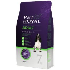 Pet Royal Adult Dog Medium Breed granule pro psy