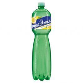 Poděbradka jemně perlivá minerální voda citrónová