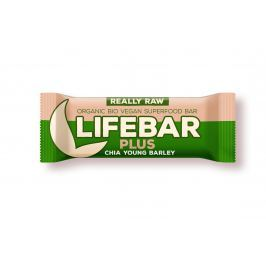 Lifefood Lifebar Plus chia semínka a mladý ječmen BIO
