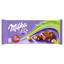 Milka Mléčná čokoláda z alpského mléka s celými jádry lískových ořechů