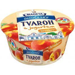 Madeta Jihočeský tvaroh s jogurtem broskev