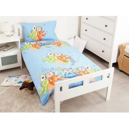 Povlečení Dětské licenční -Cat and Dog Blue 100% bavlna, 95x135/40x60