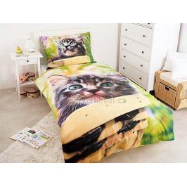 Jerry Fabrics Povlečení Kočka Mourek bavlna 140x200 70x90