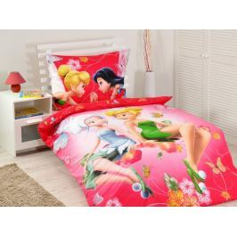 Jerry Fabrics Povlečení Fairies pinkie 2015 bavlna 140x200 70x90