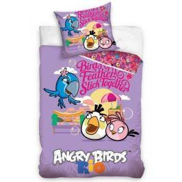 Carbotex povlečení Angry Birds kamarádi bavlna 140x200 70x80