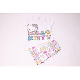 Bavlněné pyžamo pro holčičky se šortkami Hello Kitty 104/110
