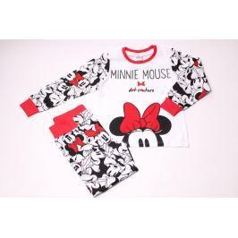 Dívčí bavlněné pyžamo Minnie s mašličkou 122/128