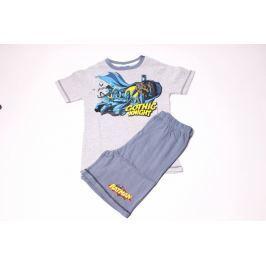 Klučičí bavlněné pyžamo se šortkami Batman 92/98