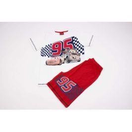 Chlapecké bavlněné pyžamo se šortkami Cars bílé 104/110