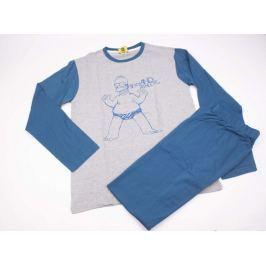 Pánské bavlněné pyžamo Simpsons modré XL