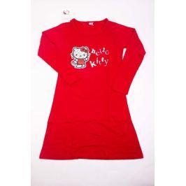 Dámská bavlněná noční košile Hello Kitty červená S