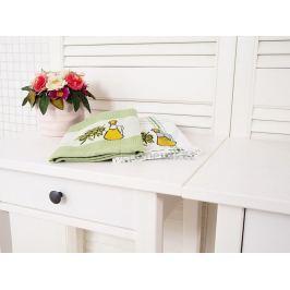 Kuchyňské utěrky sáček Oliva zelené set 2 kusy 50x70