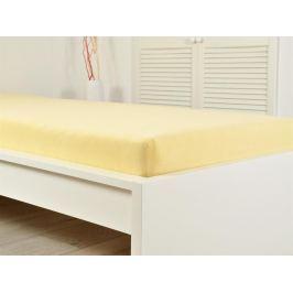 2x froté prostěradlo 90x200 žlutá (190g/m2)