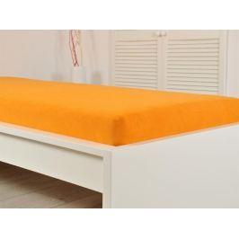 2x froté prostěradlo 90x200 oranžové (190g/m2)