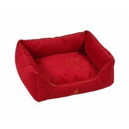 Semišový pelech pro velké psy Royal červená 85x120