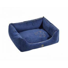 Semišový pelech pro psy a kočky Royal modrá 55x80