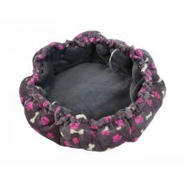 Pelíšek pro psy a kočky se stahováním Orbis de luxe šedá 50 cm