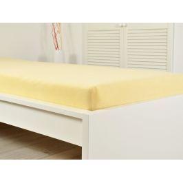 2x froté prostěradlo 200x220 světle žlutá (190g/m2)