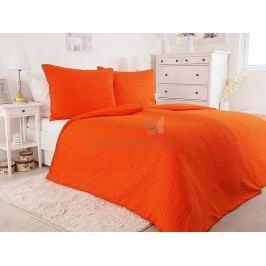 Luxusní jemné mikrokrepové povlečení Unito oranžová 140x200
