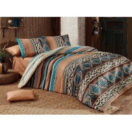 Ložní povlečení bavlna Deluxe Tauret hnědá 200x220