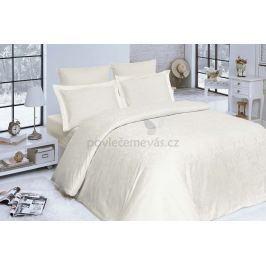 Kvalitní damaškové povlečení z bavlny Addobbe krémová 140x200