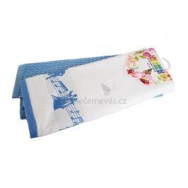 Kuchyňská utěrka duopack Noty modrá 40x60 cm