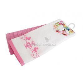 Dvě kuchyňské utěrky z bavlny Oáza růžová 40x60 cm