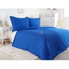 2x luxusní ložní set povlečení mikrokrep Unito modrá 140x200