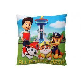 Dětský dekorační polštářek Všechny tlapky na palubě 40x40