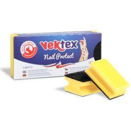 Vektex Nail Protect Houbička na nádobí tvarovaná 9,5 x 6,5 x 4,5 cm 3 kusy
