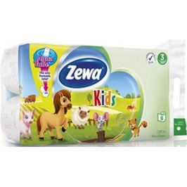 Zewa Kids Aqua Tube toaletní papír 3 vrstvý 150 útržků 8 kusů, rolička, kterou můžete spláchnout