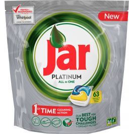 Jar Platinum All in One Lemon Kapsle do myčky nádobí 63 kusů
