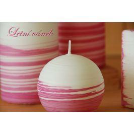 Lima Aromatická spirála Letní vánek svíčka bílo - růžová válec 60 x 120 mm 1 kus