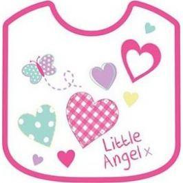 First Steps Little bryndák dvouvrstvý bavlna + Peva růžový 21 x 25 cm Angel