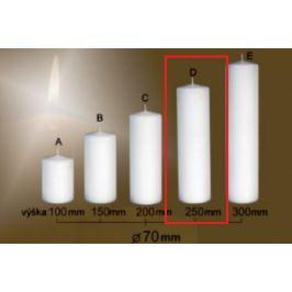 Lima Gastro hladká svíčka bílá válec 70 x 250 mm 1 kus