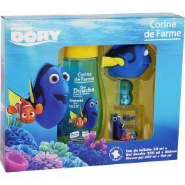 Corine de Farme Disney Hledá se Dory toaletní voda pro děti 50 ml + sprchový gel 250 ml + hračka do koupele rybička, dárková sada