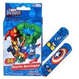 Marvel Heroes sterilní náplasti pro děti 20 kusů