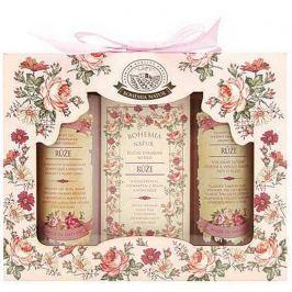 Bohemia Gifts & Cosmetics Růže sprchový gel 100 ml + toaletní mýdlo 100 g + vlasový šampon 100 ml