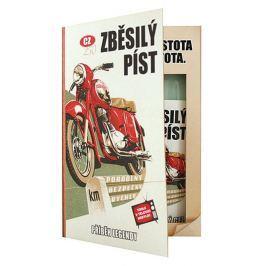 Bohemia Gifts & Cosmetics Kniha Retro motorka sprchový gel 200 ml + šampon 200 ml s příjemnou pánskou vůní, kosmetická sada