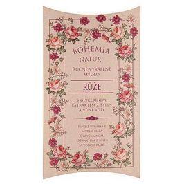 Bohemia Gifts & Cosmetics Růže s glycerinem a extraktem z bylin ručně vyráběné toaletní mýdlo v papírové krabičce 100 g